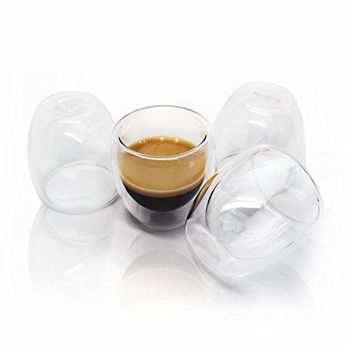 cutehom Espresso Tassen–Set of 4Double Shot Gläser, glas, glas, 4er-Set