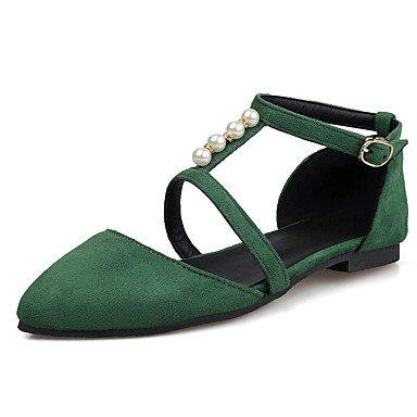 Confortevole ed elegante piatto scarpe donna Appartamenti Primavera / Estate / Autunno / Inverno d' Orsay / Ballerina / Punta Party & sera abito / / Casual Dark Green