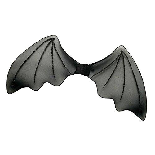 MagiDeal Vampir Fledermausflügel Kinder Fledermaus Geist Flügel Halloween Vampirflügel Bat Schädel Wings Kostüm Accessoire Karnevalskostüme Tier - Schwarz, 30 x 66cm (Machen Fledermaus Flügel Kostüm)