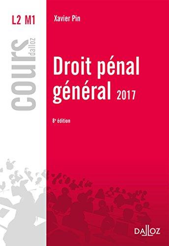 Droit pénal général 2017 - 8e éd.