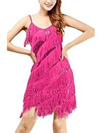 d246cf87d613bd Damen Elegant Abendkleid Festlich Kleid Glitzer Vintage Ärmellos Tanz  Kleider
