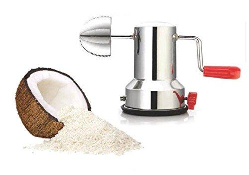 Kokosnussschaber aus Edelstahl – Vakuum-Saugnapf Basis rostfrei Kokosnusspulver Maker getrocknet Kokosnuss Qualität geprüft
