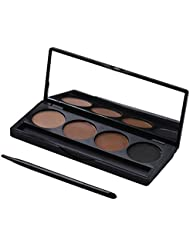 4 Colors Cosnetic Eyebrow Powder Palette Eye Brow with Brush & Mirror Makeup set kit