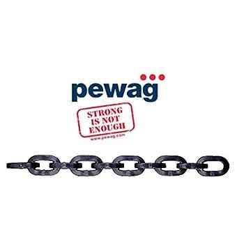 Pewag 7/40,6cm 3012carré Chaîne de sécurité 0,3m (30.48cm) Antivol Chaîne NE Peut pas être découpé avec Coupe-boulons