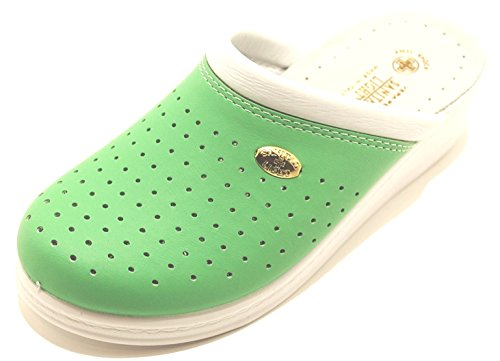 Ciabatte Sanitarie Anatomiche Donna Viola Verde Rosa Made in Italy Sanital Light (37, Verde)