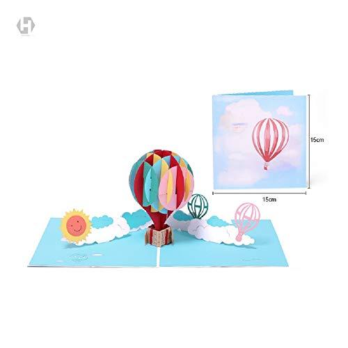 Ballon 3D kreative Geschenk Falten dreidimensionale Hohle Papier schnitzen Grußkarte Stück benutzerdefinierte Urlaub leer Umschlag Segen (Benutzerdefinierte Ballons Geburtstag)