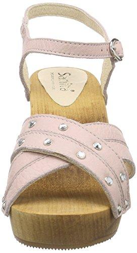 Sanita Damen Penny Plateau Sandal Pink (Nude 33)