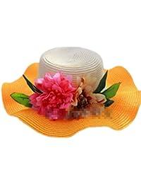 Sommer Damen-Visor, mit Blumenmotiv und breiter Krempe, Strick, Bonnie neuen Hut