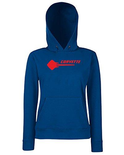 T-Shirtshock - Sweats a capuche Femme FUN0442 2014 corvette stingray 2 42332 Bleu Navy