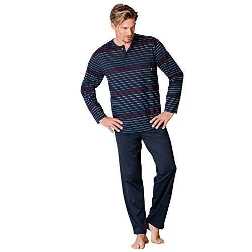 Hajo Klima Komfort Herren-Schlafanzug Single-Jersey dunkelblau Größe 52/54