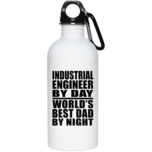 Industrielle Ingenieur Tag World 's Best Dad by Night–Wasser Flasche, Edelstahl Tumbler, beste Geschenk für Vater, Papa, ihn, Eltern von Tochter, Sohn, Kind, Frau (Flüssigkeit Kinder 4 Von Unzen)