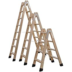 Escaleras De Madera Tijera Homologadas Varias Medidas (3 Peldaños) Envío GRATIS