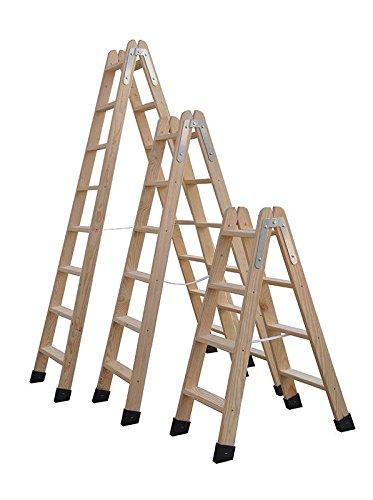 Escaleras De Madera Tijera Homologadas Varias Medidas (4 Peldaños)