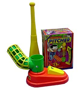 Automatic Pitcher Baseball Kids Game Plastic Toy Bat Ball for Outdoor Play