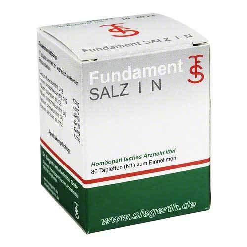 Fundament Salz I N Tablet 80 stk