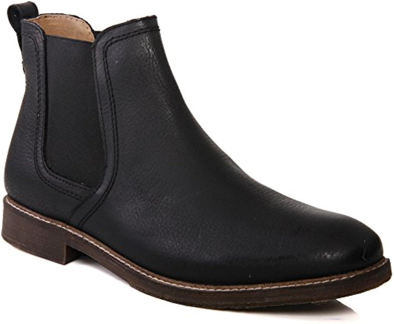 Unze Mens 'Ashton' cuero tirón en botas de desierto Reino Unido tamaño 7-11