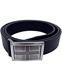 "Mens Luxury Extra Long 100% PU Synthetic Leather Black Casual Belt for Jeans 42"" - 54"" / XL - 4XL"