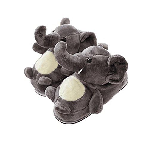 LANFIRE Animal Slippers Elephant Slippers Winter Home Warm Anti - Skid Cotton Slippers