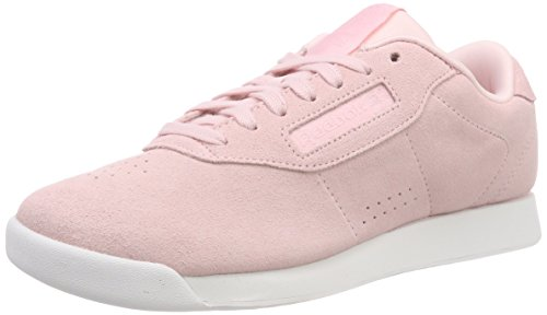 Reebok Damen Princess Leather Fitnessschuhe, Mehrfarbig (Pb/Practical Pink/White 000), 37 EU