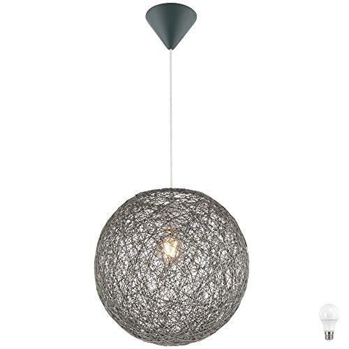 Pendel Leuchte Beleuchtung Hänge Lampe Papier Geflecht Kugel im Set inklusive LED Leuchtmittel