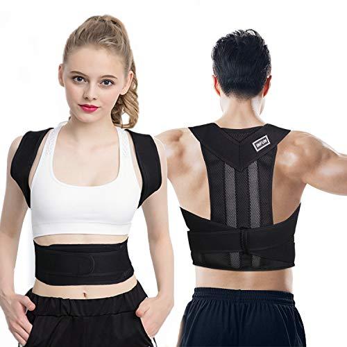 INFUN Geradehalter zur Haltungskorrektur, Geradehalter Rücken Bandage zur Haltungskorrektur bei Rücken Nacken und Schulterschmerzen Damen und Herren XL