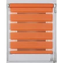 Prakto 6590 - Estor doble (38 x 150 cm), color naranja
