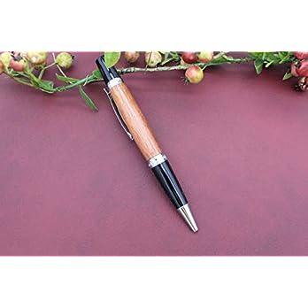 Edler Handgedrechselter Dreh Kugelschreiber aus Holz Bocote Absolutes Unikat