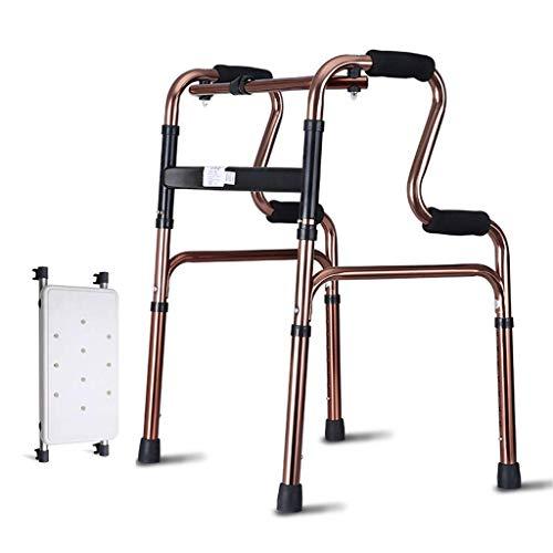 Giow Gehhilfe mit Sitzbrett, bequemer Armlehne und Rutschfester Unterlage für ältere Senioren, Behinderte, max. 180 kg