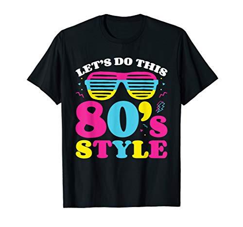 80er Jahre Kostüm T-Shirt 80er Jahre (Achtziger Jahre Stil Kostüm)