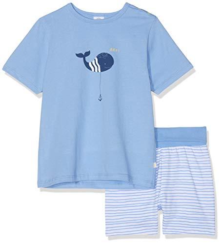 Sanetta Baby-Jungen Bekleidungsset Pyjama Short Blau (Blue Sea 5673) 92