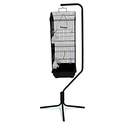 Easipet Large Metal Bird Cage with Stand Suitable For Multiple Birds (Black) 7