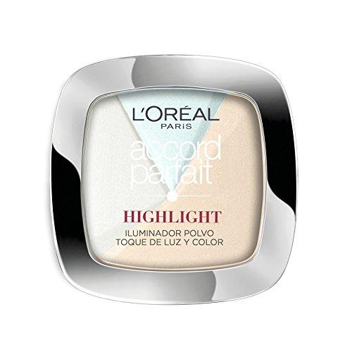 L'Óreal Paris Accord Perfect Polvo, Iluminador, 301 Icy Glow - 1 Iluminador