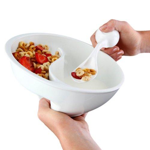 Obol–el Original nunca Soggy cuenco para cereales/con la espiral diseño de diapositiva 'n Grip