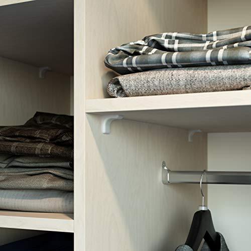 Conector de muebles//angular con tapa Color: Marron 20 x Soportes de esquina Fabricado en acero galvanizado con tapa Sossai BT2