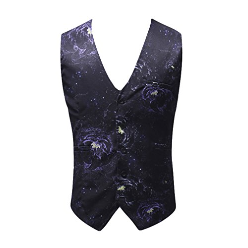 Juleya Gilet Uomo Fashion Flower Print Dress For Uomo Gilet Uomo Gilet da sposa Big Size M02 L