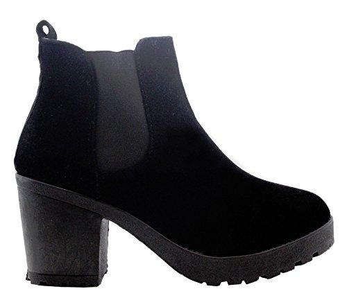 Saute Styles , Bottes Classiques femme Daim noir