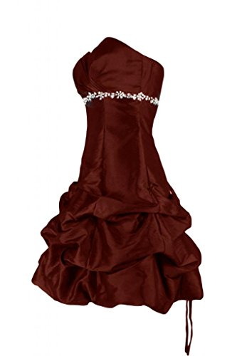 Sunvary Charming in strass A-Line Abito da Cocktail, vestito formale Sweetheart Borgogna