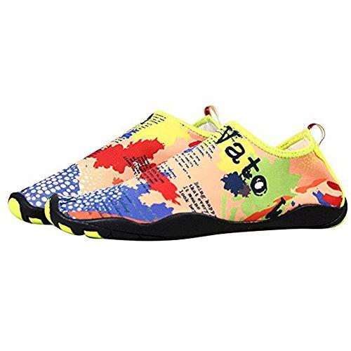 Damen Ultraleicht Rutschfeste Sandalen Surf Strandschuhe Aquaschuhe Schnell Trocknend Schwimmen Wasser Sport Sneaker Unisex Herren Multicolor