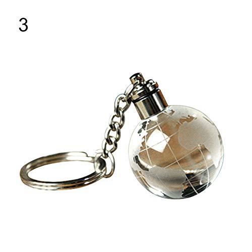 Steellwingsf Schlüsselanhänger mit LED-Licht, Weihnachtsball, Basketball, Schlüsselanhänger, Kunstkristalle, Globe