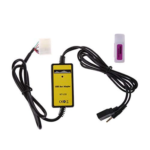 Kanitry CD-Changer/Auto-USB-Adapter, 3,5 mm, MP3-Player, AUX-Eingang für Toyota Lexus, 5 + 7 Pin