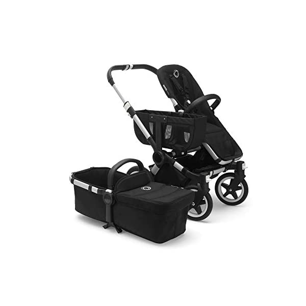 Bugaboo Donkey 2 Mono, 2 In 1 Pram and Pushchair, Extends Into Double Stroller, Black/Soft Pink Bugaboo The name donkey says it all; it's the bugaboo pushchair with the most storage space The bugaboo donkey2 mono can be easily extended to create even more space in the expandable side luggage basket & underseat basket Use extension sets to convert the bugaboo donkey2 mono into a duo or twin pushchair in just three clicks (extension sets sold separately) 3