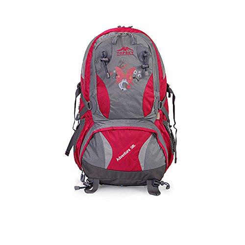 Im Freienberg Taschen/Wanderrucksack/Aufhellung der atmungsaktive wasserdichten Taschen-Rose Red 38L Rose Red