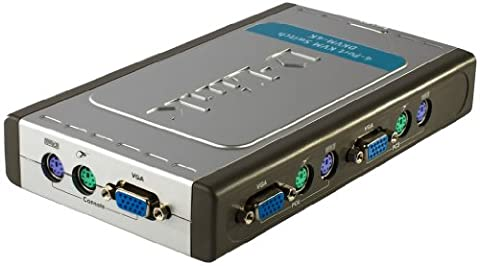 D-Link DKVM 4K Commutateur Ecran/Clavier/Souris 4 Ports PS2 Gris
