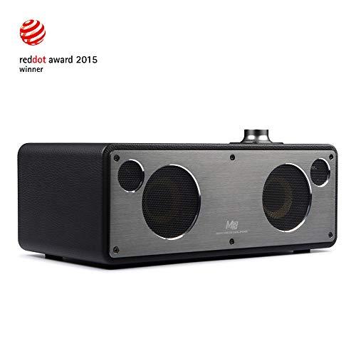 GGMM M3 Retro Altoparlante senza Fili, Wi-Fi/Bluetooth Speaker Stereo con Uscita 40W, Multi-Room Play, Airplay, DLNA, Spotify, iHeart Radio Streaming di Musica i Dispositivi Intelligenti(Nero)