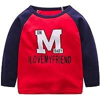 YanHoo Ropa para niños Camiseta de Manga Larga para niños, niñas y niñas Niño pequeño