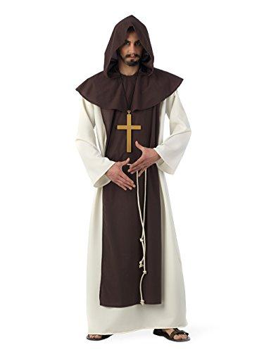 Limit Sport - Disfraz de monje cisterciense medieval, para adultos, talla XXL (MA225)