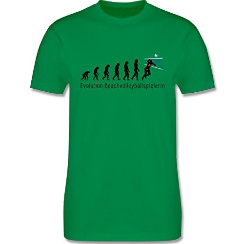 Evolution - Beachvolleyballspielerin Evolution - Herren Premium T-Shirt Grün