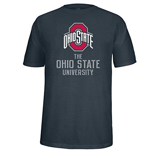 J America T-Shirt Ohio St, großes Logo, Gr. XL, Anthrazit (State Ohio Football-t-shirt)