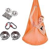 HappyTime Anti-Gravitation-Aerial Yoga Swing, 5 Meter x 2,8 Meter geeignet für Indoor-Höhen von 2.6 Meter-3,2 Meter,d