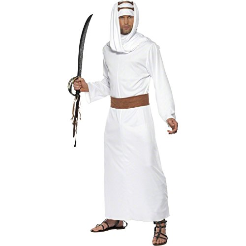 NET TOYS Lawrence von Arabien Kostüm weiß M 48/50 Scheichkostüm Orientkostüm Prinzenkostüm Araberkostüm